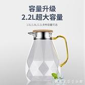 德國冷水壺大容量玻璃水壺家用耐高溫涼白開水杯套裝涼水壺