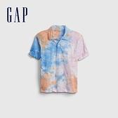 Gap男童 輕薄紮染短袖POLO衫 689370-彩色紮染