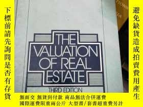 二手書博民逛書店THE罕見VALUATION OF REAL ESTATEY26