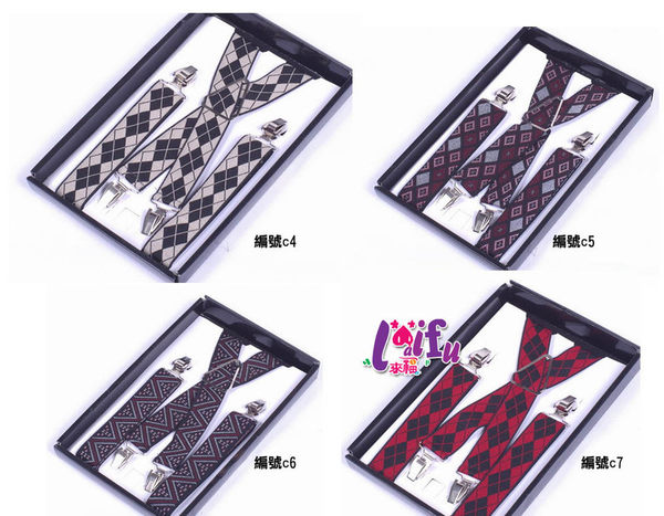★草魚妹★K140四夾X夾3.5cm提花高質感西裝吊帶褲夾背帶吊帶不挑款,售價499元