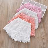 女童短褲 女童短褲夏裝薄款新款兒童外穿熱褲純棉花邊褲中大童夏季褲-Ballet朵朵