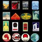 現貨16張rimowa行李箱貼紙旅行記憶複古貼畫個性防水日默瓦拉杆箱貼紙 寶貝計畫5-8
