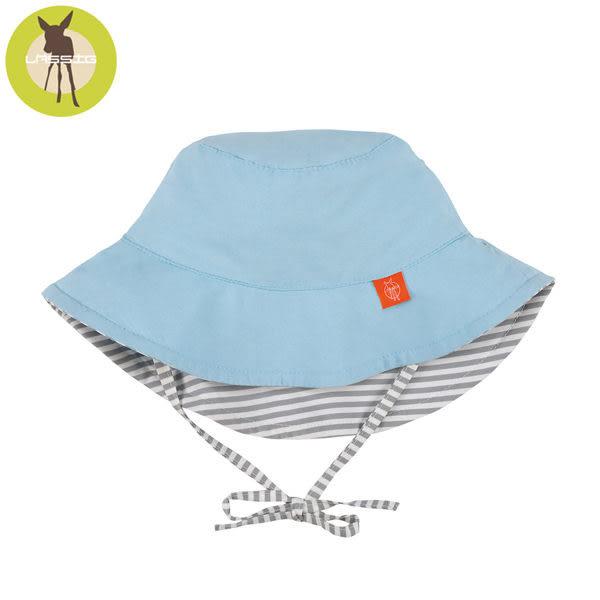 德國Lassig-嬰幼兒抗UV海灘遮陽帽-灰白條紋