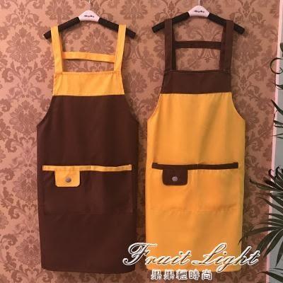 防水圍裙定制logo廚房做飯 果果輕時尚