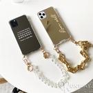 粗鍊條 鏡面 時尚感 鏈子 防摔殼 iPhone 12 11 Pro Max XR Xs 7/8 SE2 蘋果 手機殼