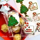 8貼 燙金聖誕樹拐杖糖貼紙【X038】 聖誕節造型貼紙 封口貼紙 裝飾卡片 包裝貼紙 聖誕禮物貼