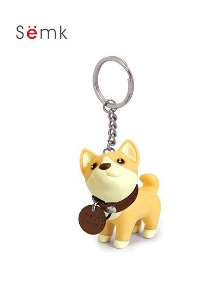 柴犬鑰匙扣掛件女韓國可愛車情侶鑰匙鍊一對小狗狗公仔書包包掛飾【老闆訂錯價】