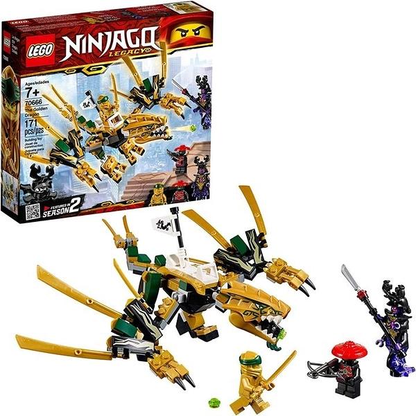 LEGO 樂高 NINJAGO Legacy Golden Dragon 70666 (171件)