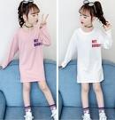 衣童趣(•‿•)韓版女童上衣 可愛貓咪氣球印花T恤 秋冬長版上衣