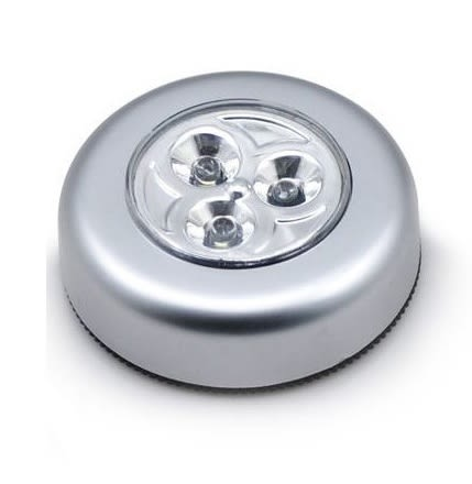3顆LED觸摸拍拍燈 露營 巡邏 探照燈 照明 車後座燈 自行車頭燈 衣櫃燈