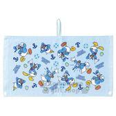 〔小禮堂〕迪士尼 唐老鴨 兒童棉質擦手巾《淺藍.泳圈》25x47cm.圍兜.擦嘴巾.毛巾 4992272-62285