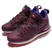 【六折特賣】Nike 休閒慢跑鞋 Wmns Internationalist Mid LTHR 紫 白底 皮革 運動鞋 女鞋【PUMP306】 859549-600