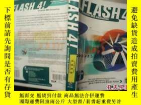 二手書博民逛書店FLASH罕見4!Creative Web Animation【館藏】附盤Y18680 英文 英文
