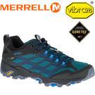 ├登山樂┤美國MERRELL MEGAGRIP MOAB FST GORE-TEX GTX男越野健行鞋-藍 # ML37599