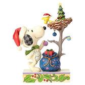 《Enesco精品雕塑》SNOOPY與糊塗塌克溫馨裝飾聖誕塑像-Tis TheSeason(Peanuts by Jim Shore)_EN91762