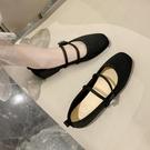 樂福鞋 年單鞋一腳蹬女鞋樂福鞋黑色百搭針織豆豆鞋平底平跟鞋子 晶彩