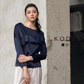 東京著衣【KODZ】歐美流行光澤感修身設計上衣-S.M.L(172520)