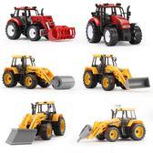 兒童工程車玩具男孩農用拖拉機伐木叉車模型推土機寶寶慣性小汽車【韓衣舍】