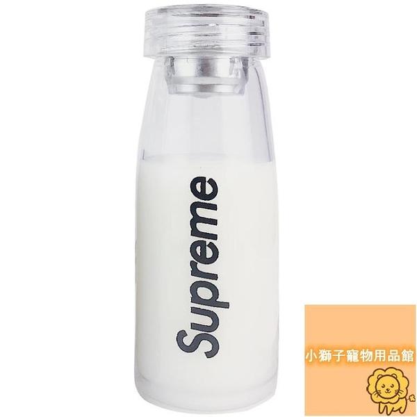 簡約隨手杯子透明玻璃杯便攜帶茶隔學生水杯【小獅子】