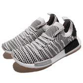 adidas NMD_R1 STLT PK 灰 黑 雪花 編織 Primeknit 鞋面 boost 襪套式 黑白 運動鞋 男鞋【PUMP306】 CQ2387