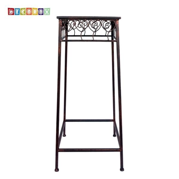 DecoBox心語古銅方形大花架 (多肉花架,羅馬柱,走道花鐵架,展示架)