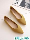 尖頭鞋 飛織單鞋女春夏季尖頭平底針織透氣豆豆鞋淺口軟底懶人鞋【風之海】