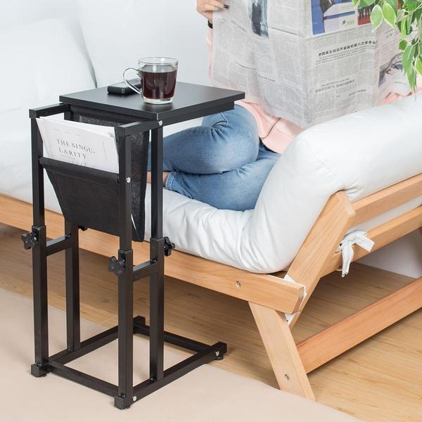 樂嫚妮 升降沙發邊桌 黑 咖啡桌 雜誌桌 茶几桌