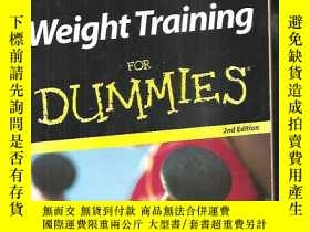 二手書博民逛書店Weight罕見Training For Dummies【英文原