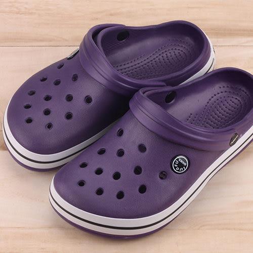 女款 涼拖兩穿式 布希鞋 洞洞鞋 園丁鞋 拖鞋 紫色 59鞋廊
