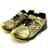 《7+1童鞋》日本瞬足 SYUNSOKU 輕量透氣 網面休閒 運動鞋 E289  金色