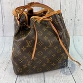BRAND楓月 LOUIS VUITTON LV M42226 棕色 原花 束口 經典水桶包 側背包 中款
