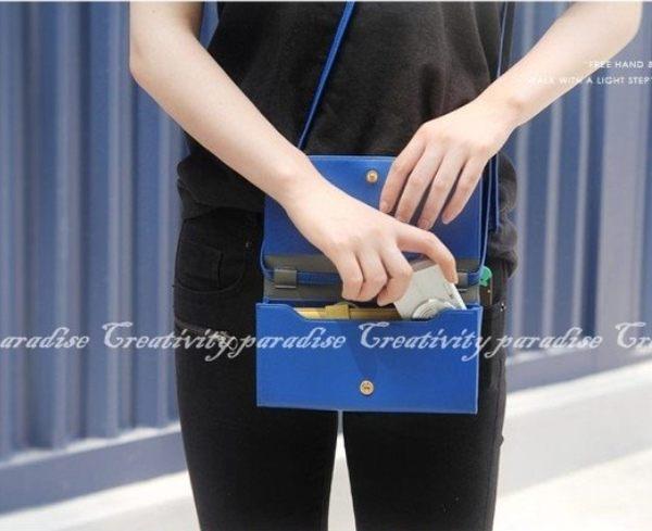 【長款錢包】多功能皮革側背包 單肩手機包 斜挎包 相機包 長夾 皮包