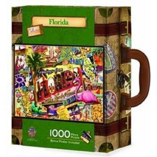 【美國 Master Pieces】手提箱拼圖-Florida 佛羅里達(1000片)