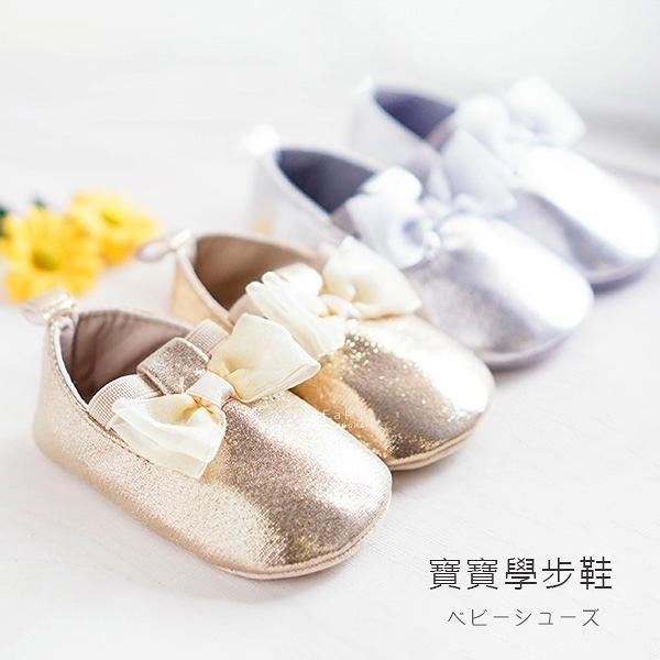 亮面氣質蝴蝶結軟底寶寶學步鞋 寶寶鞋 嬰兒鞋