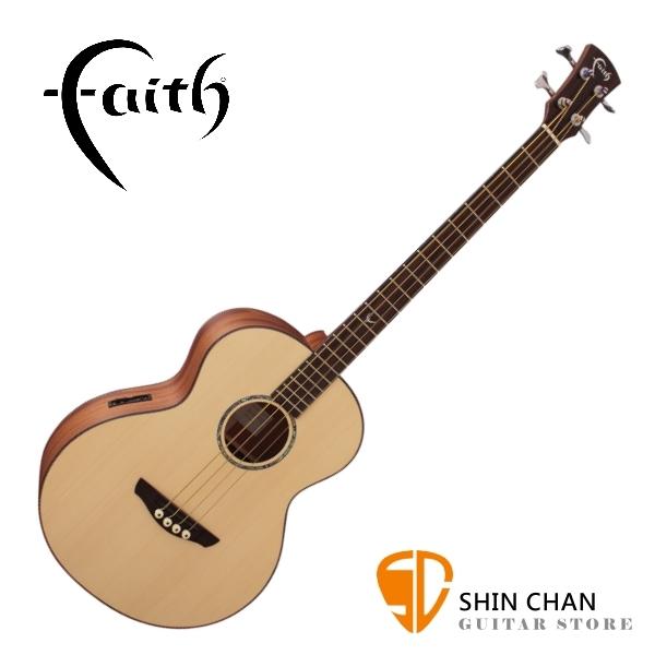Faith 英國名牌 FTNE 全單板 可插電 木貝斯 附贈貝斯硬盒 CASE 印尼製【型號:FTNE/電木貝斯/BASS】
