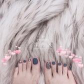 2020假腳指甲貼片手工光療甲片成品 夏日系顯白腳趾甲新娘可拆卸 [快速出貨]