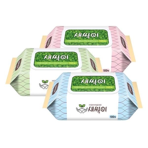 韓國 JJtissue 濕紙巾100抽(含蓋)【小三美日】款式隨機出貨 原價$80
