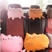 車載靠枕 創意可愛韓國小貓咪汽車頭枕靠枕車用脖子護頸枕車載卡通座椅枕頭 最後一天全館八折