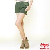 BOBSON 女款燙貼圓鋁色布短褲(211-41)