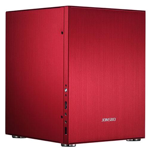 jonsbo 喬思伯 C2 鋁合金機殼 陽極紅 ITX Micro-ATX(僅支援245×215mm)