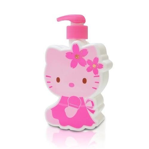 Hello Kitty 凱蒂貓櫻花玻尿酸洗髮乳-3D造型公仔 精美Kitty造型瓶(最佳使用期限:2018/1/15 或 2018/2/3)