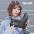 雨鞋女韓國可愛水鞋中筒秋冬時尚防水鞋套鞋防滑膠鞋戶外成人雨靴   【雙十二免運】