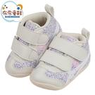 《布布童鞋》asics亞瑟士紫色小碎花中筒寶寶機能學步鞋(11.5~13.5公分) [ J1B168F ]
