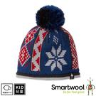 【SmartWool 美國 孩童冬日雪花毛帽《靛藍色》】SW018022/針織帽/毛線帽/羊毛帽
