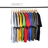 短袖 夏季男裝日繫素色短袖潮流青年純棉上衣體恤簡約寬鬆T恤 宜室家居