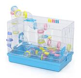 倉鼠籠 DIY豪華外接管道籠超大倉鼠基礎籠雙層金絲熊花枝鼠別墅T 3色