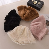 毛帽-純色加厚加絨保暖女漁夫帽4色73ug42[巴黎精品】
