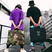單肩包 sunman@潮牌男文藝帆布手提簡約大容量購物袋ins韓版布袋 - 古梵希鞋包
