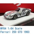 現貨 MY64 SCM 1/64 法拉利 Ferrari 250 GTO 1963 銀 MY6401G