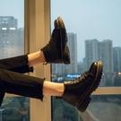 男皮鞋 馬丁靴男短靴子男百搭韓版潮黑色休閒中幫皮鞋【快速出貨八折搶購】